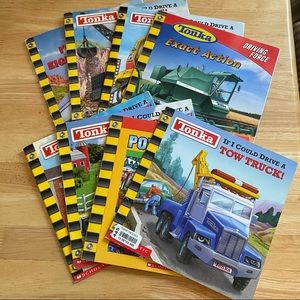TONKA TRUCK BOOK SET OF 8 EARLY READER BOOKS